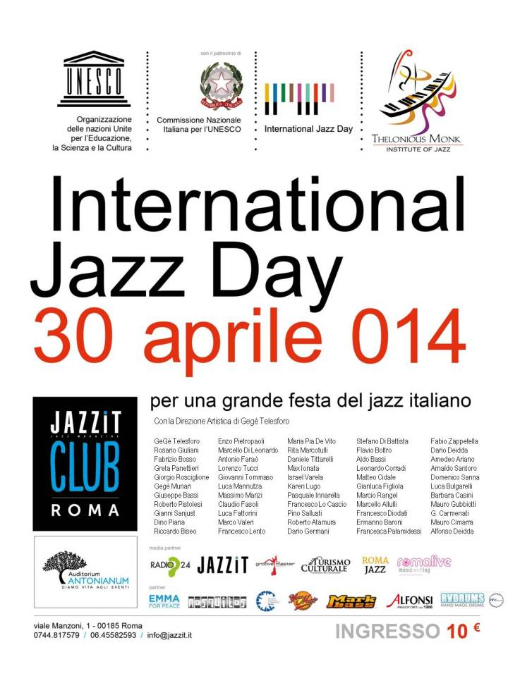 INTERNATIONAL JAZZ DAY ROMA_Flyer_2014