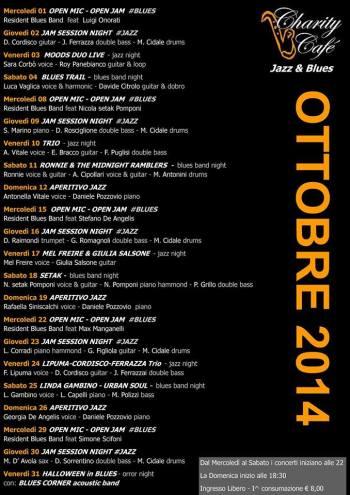 Locandina Ottobre charity cafè