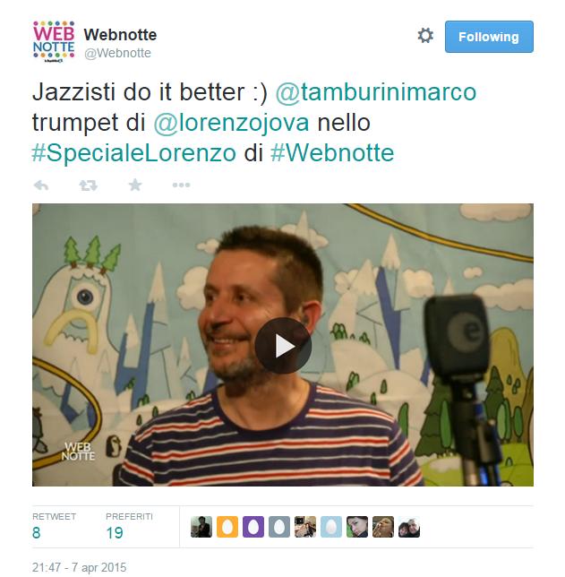 tweet di marco tamburini