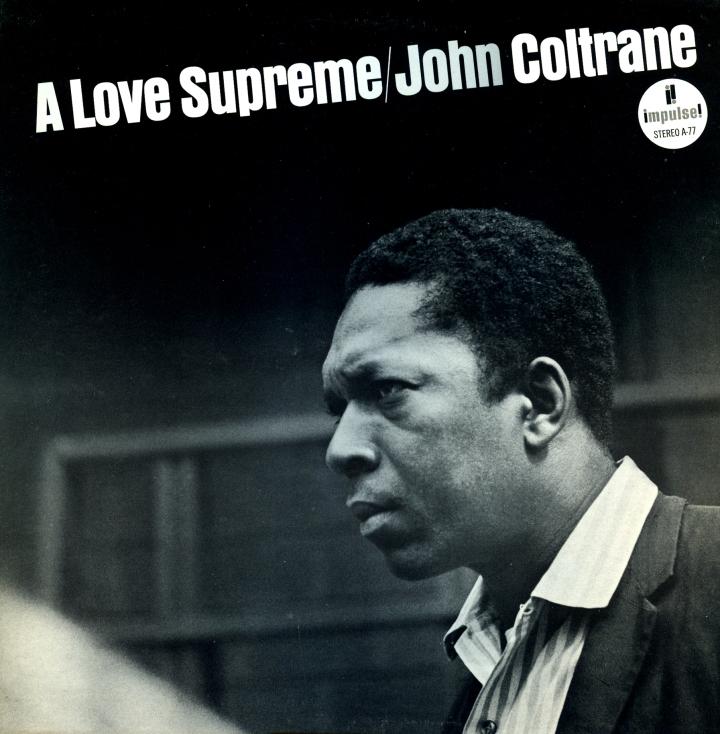 """John Coltrane """"A Love Supreme! album cover"""